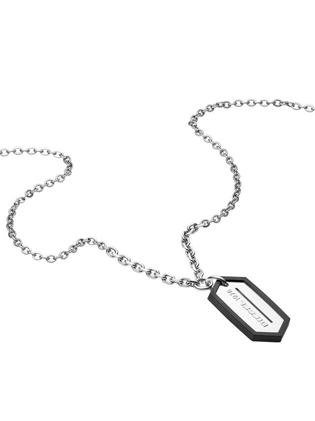 Diesel - NECKLACE DX0996, Plata - Collares - Image 2