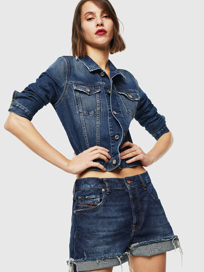 Diesel - DE-LOWY, Azul medio - Shorts - Image 4