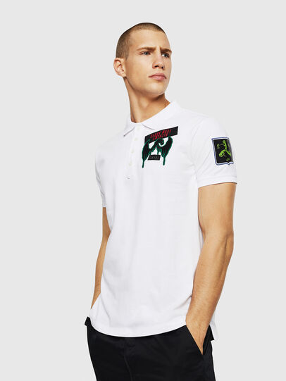 Diesel - T-POLO-PATCHES, Blanco - Polos - Image 4