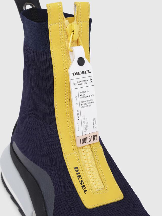 Diesel - H-PADOLA MID ZIP, Azul/Amarillo - Sneakers - Image 4