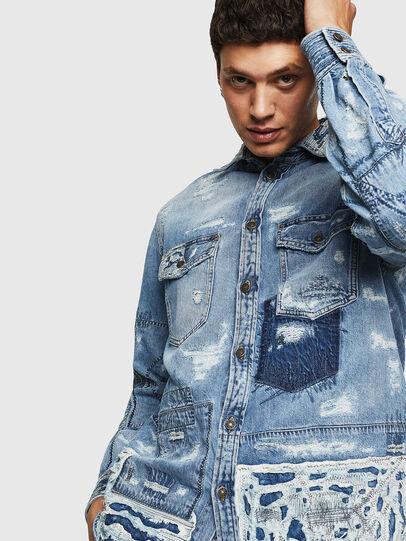 Diesel - D-HISAKY-SY, Blue Jeans - Camisas de Denim - Image 7
