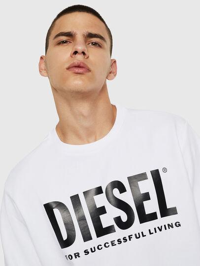 Diesel - S-GIR-DIVISION-LOGO, Blanco - Sudaderas - Image 5