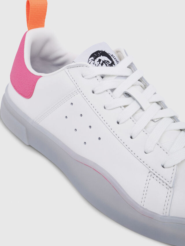 Diesel - S-CLEVER LOW W, Blanco/Rosa - Sneakers - Image 4