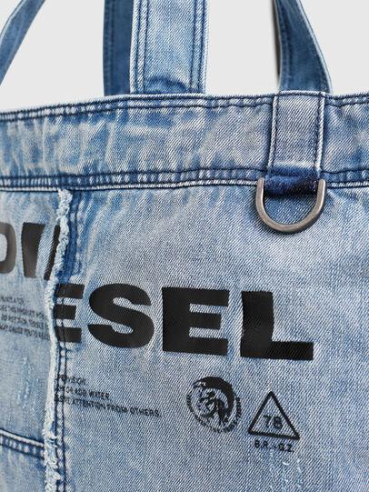 Diesel - D-THISBAG SHOPPER L, Azul Claro - Bolsos Shopper y Al Hombro - Image 4