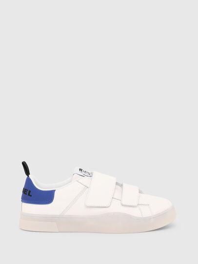 Diesel - S-CLEVER LOW STRAP, Blanco/Azul - Sneakers - Image 1