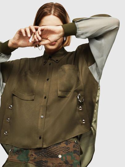 Diesel - C-LEXYS, Verde Militar - Camisas - Image 3
