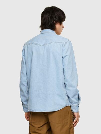 Diesel - D-EAST-P1, Azul Claro - Camisas de Denim - Image 2