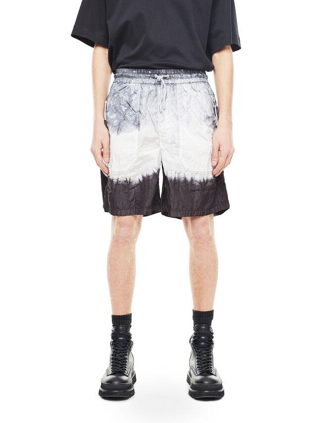 Diesel - PAIDAY, Negro/Blanco - Shorts - Image 1