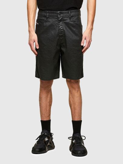 Diesel - D-WILLOH-X-SP JOGGJEANS, Negro - Shorts - Image 1
