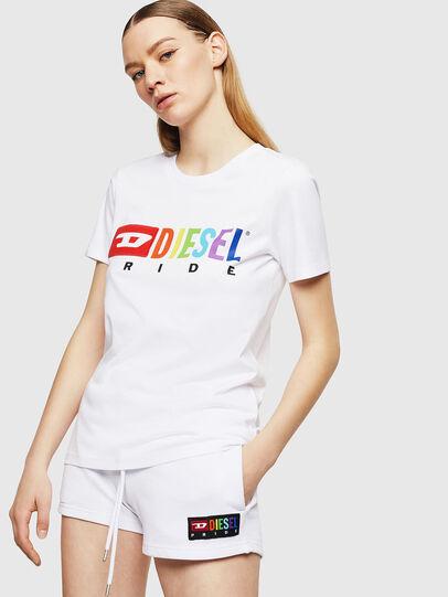 Diesel - UFTEE-SILY-INT, Blanco - Camisetas - Image 1