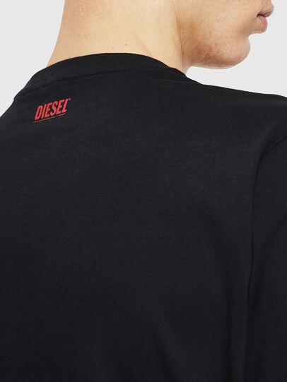 Diesel - T-JUST-J9, Negro/ Rojo - Camisetas - Image 5
