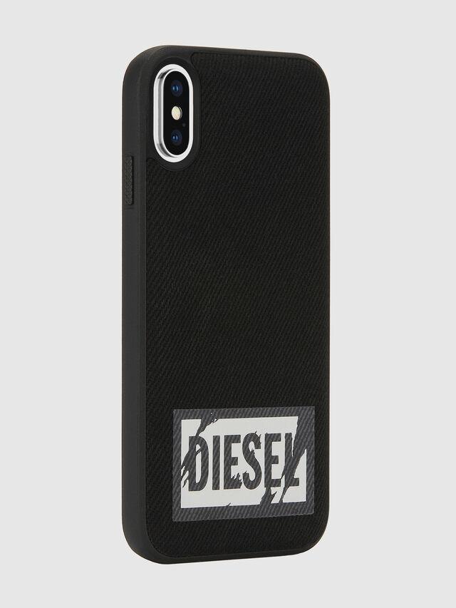 Diesel - BLACK DENIM IPHONE X CASE, Negro - Fundas - Image 6