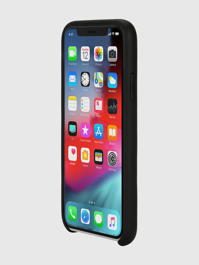 Diesel - DIESEL LEATHER CO-MOLD CASE FOR IPHONE XS & IPHONE X, Negro - Fundas - Image 3