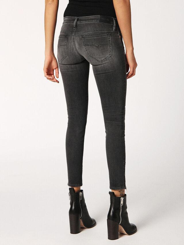 SKINZEE-LOW-ZIP 0688F, Black Jeans