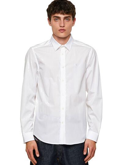 Diesel - S-BILL, Blanco - Camisas - Image 1