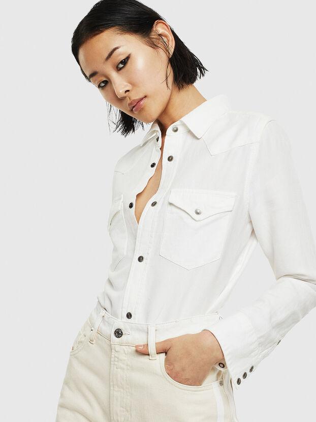 DE-RINGY, Blanco - Camisas de Denim
