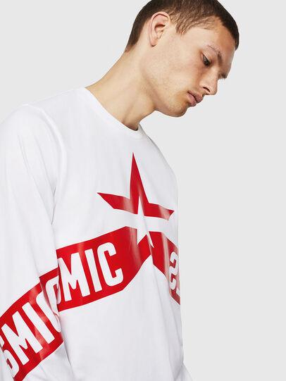 Diesel - T-JUST-LS-STAR, Blanco - Camisetas - Image 4