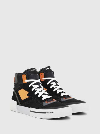 Diesel - S-DESE MS, Negro/Naranja - Sneakers - Image 2