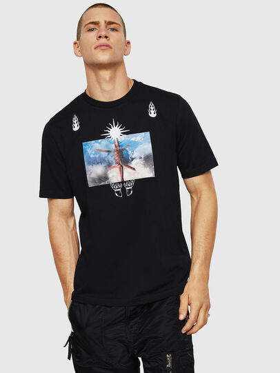 Diesel - T-JUST-B28, Negro - Camisetas - Image 1