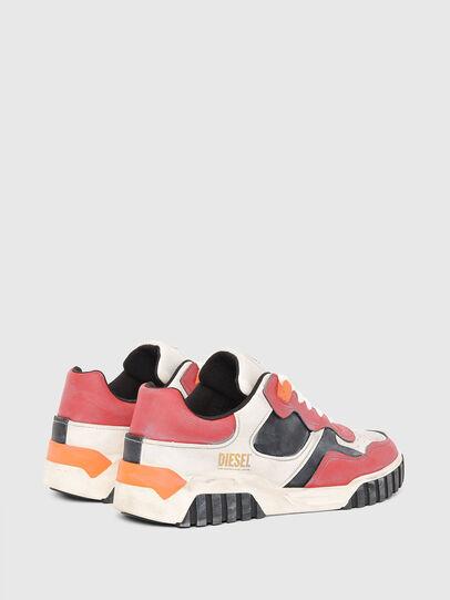 Diesel - S-RUA LOW SK, Blanco/Rojo - Sneakers - Image 3