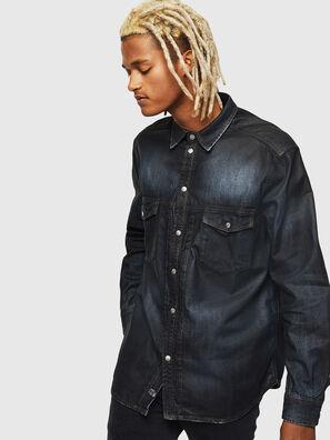 D-BANDY-B, Azul Oscuro - Camisas de Denim