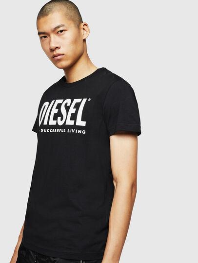 Diesel - T-DIEGO-LOGO, Negro - Camisetas - Image 1