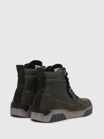 Diesel - S-RUA MID, Verde Oscuro - Sneakers - Image 3
