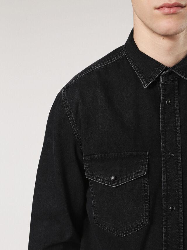 Diesel - D-ROOKE, Black Jeans - Camisas de Denim - Image 5