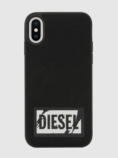 Diesel - BLACK DENIM IPHONE X CASE, Negro - Fundas - Image 2