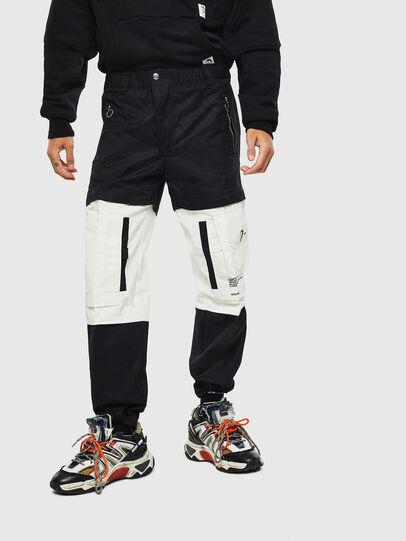 Diesel - P-MELTY, Negro/Blanco - Pantalones - Image 1