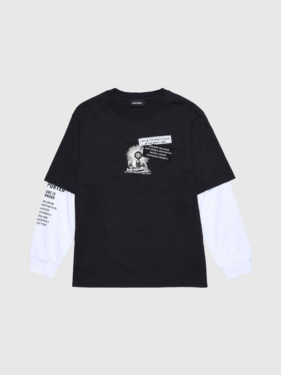 Diesel - TSHOOTYA OVER, Negro/Blanco - Camisetas y Tops - Image 1