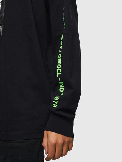 Diesel - T-JUST-LS-HOOD-J5, Negro - Camisetas - Image 3