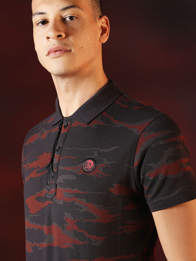 Diesel - DVL-POLO-SPECIAL COLLECTION, Rojo/Negro - Polos - Image 6