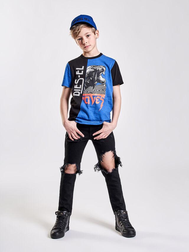 Diesel - TJUSTCUT, Negro/Azul - Camisetas y Tops - Image 3