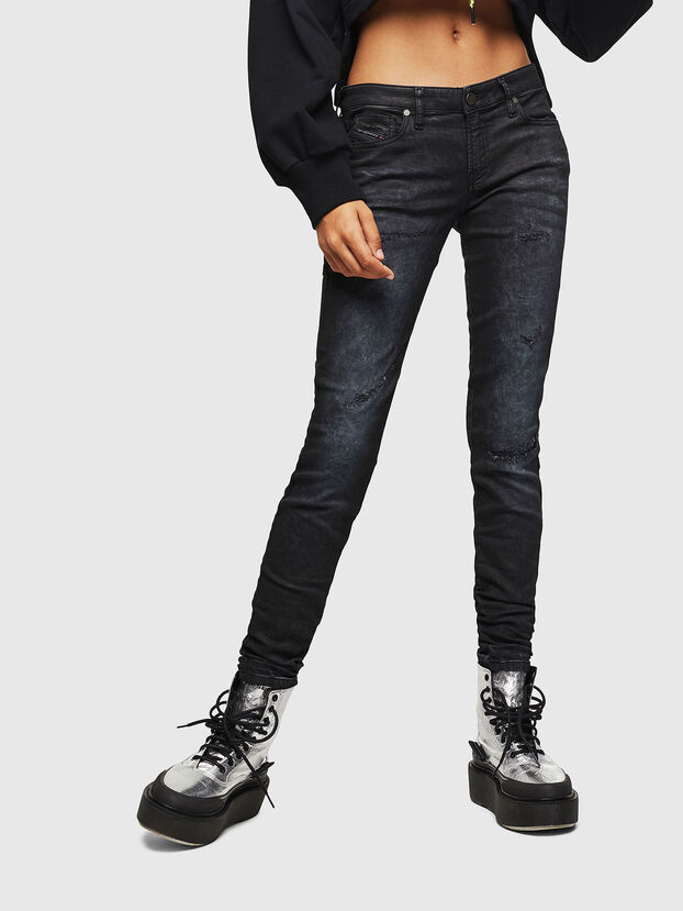 Gracey JoggJeans 069GP, Negro/Gris oscuro - Vaqueros