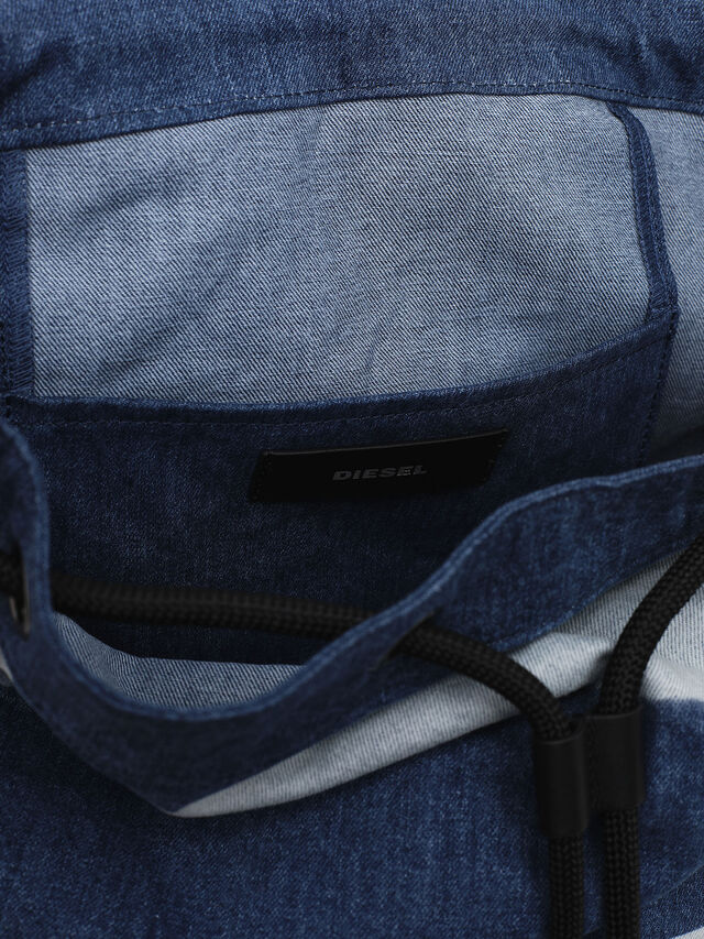 Diesel - VOLPAGO BACK, Blue Jeans - Mochilas - Image 4
