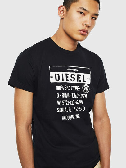 Diesel - T-DIEGO-S1, Negro - Camisetas - Image 3