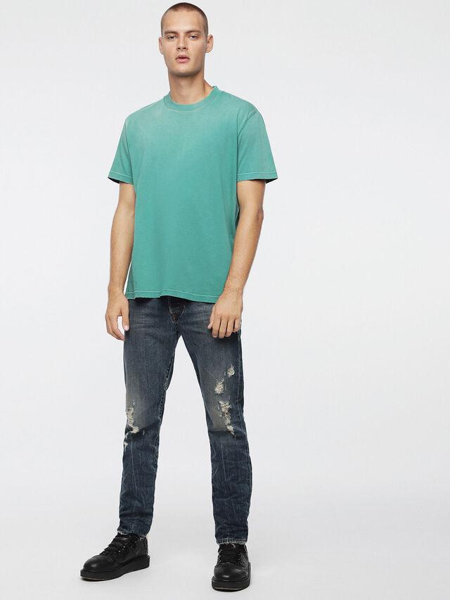 Diesel - T-JOEY-T, Verde Agua - Camisetas - Image 4
