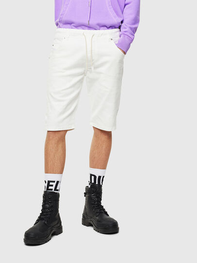 Diesel - D-KROOSHORT JOGGJEANS, Blanco - Shorts - Image 1