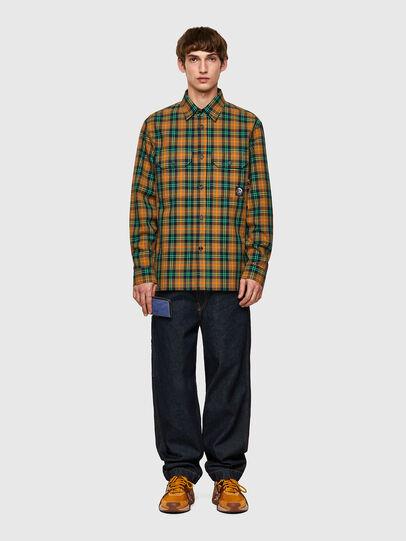 Diesel - S-JESS-CHECK, Naranja/Verde - Camisas - Image 4