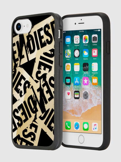 Diesel - MULTI TAPE GOLD/BLACK IPHONE 8/7/6S/6 CASE, Oro - Fundas - Image 1