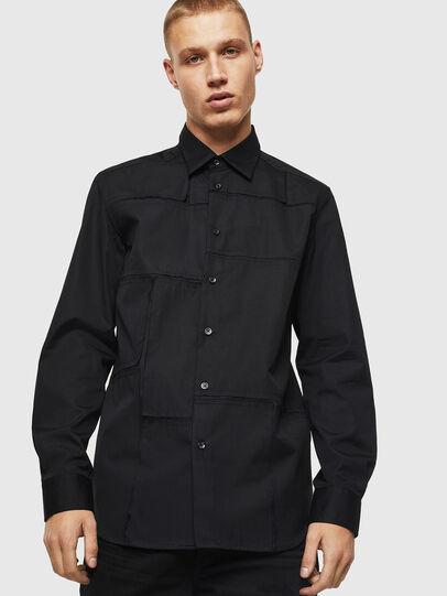 Diesel - S-AUDREY, Negro - Camisas - Image 1