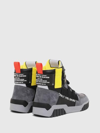 Diesel - S-RUA MID SP, Gris/Negro - Sneakers - Image 3
