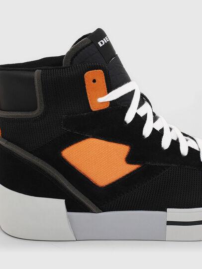 Diesel - S-DESE MS, Negro/Naranja - Sneakers - Image 5