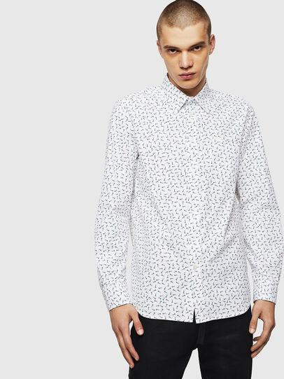 Diesel - S-VEN-NAIL, Blanco - Camisas - Image 1