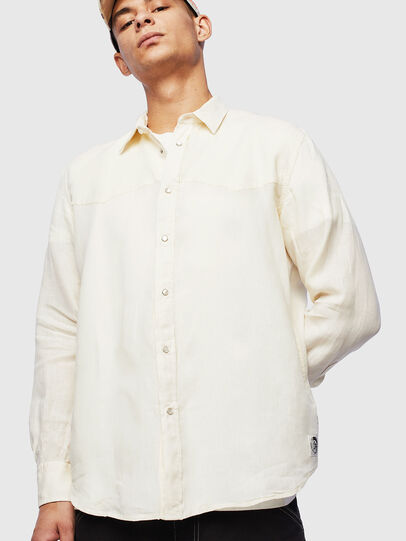 Diesel - S-PLAN-B, Blanco - Camisas - Image 1
