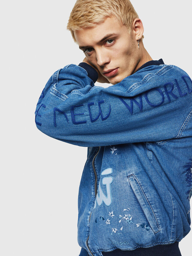 Diesel - D-BAK, Blue Jeans - Chaquetas de denim - Image 3