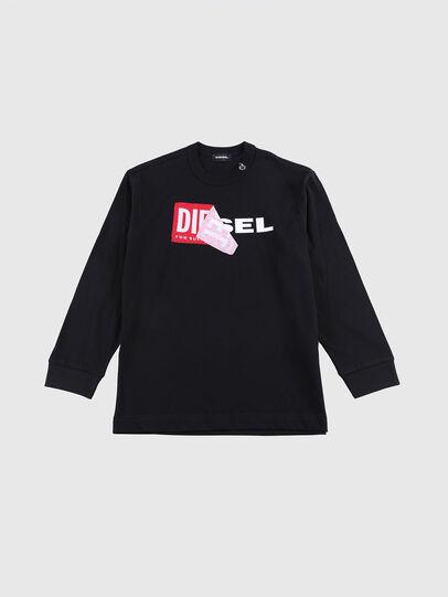Diesel - TEDRI OVER, Negro/ Rojo - Camisetas y Tops - Image 1