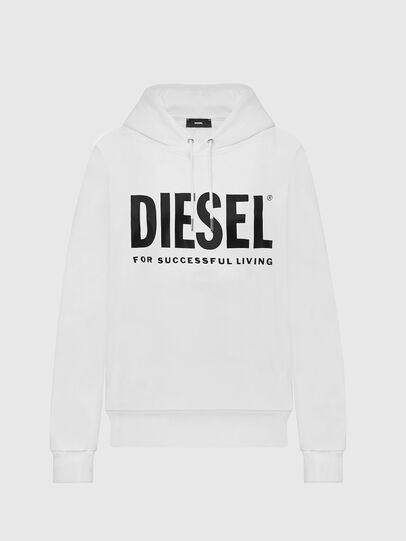 Diesel - F-ANG-HOOD-LOGO, Blanco - Sudaderas - Image 1