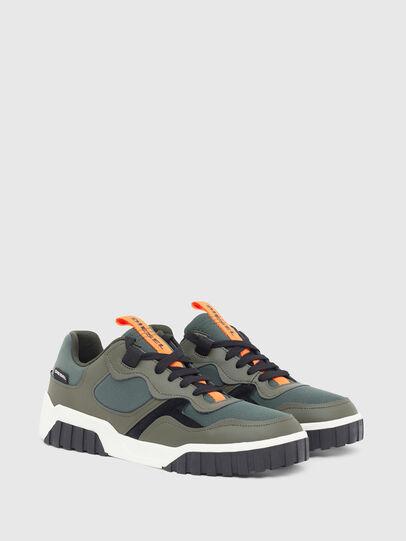 Diesel - S-RUA LOW SK, Verde Oliva - Sneakers - Image 2